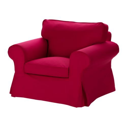 ektorp chair cover idemo red ikea inspiration circle. Black Bedroom Furniture Sets. Home Design Ideas