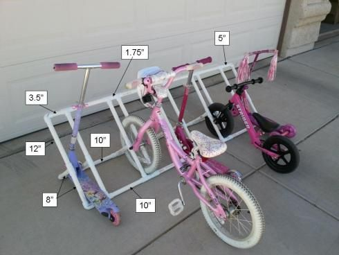 PVC Bike Rack Dimensions