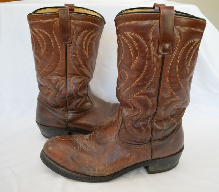Vintage MASON Steel Toe Cowboy Boots Chippewa Falls Wisconsin 10 1/2 d union made usa by ilovevintagestuff on Etsy