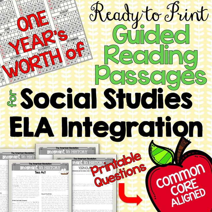 EASY Social Studies and ELA (reading) Integration for Guided Reading or Social Studies centers! Ready to print texts AND Common Core Aligned printable questions. Yay!