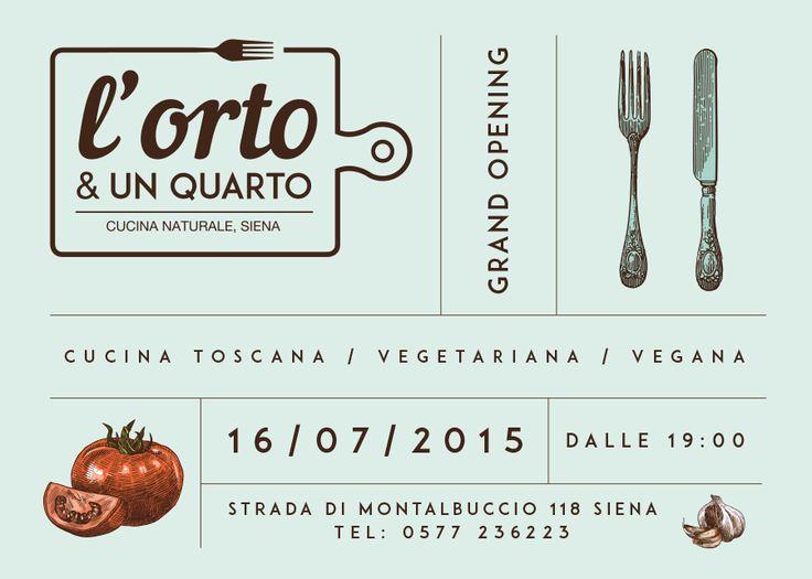 Flyer e logo design x Orto e un quarto, ristorante, siena #food #bio #design #logodesign