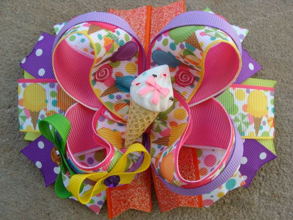 Hey, I found this really awesome Etsy listing at https://www.etsy.com/listing/281253026/ice-cream-hair-bow-boutique-hair-bow