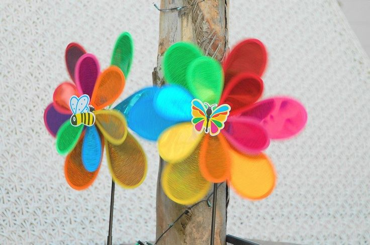 Whirly gigs were placed in the garden