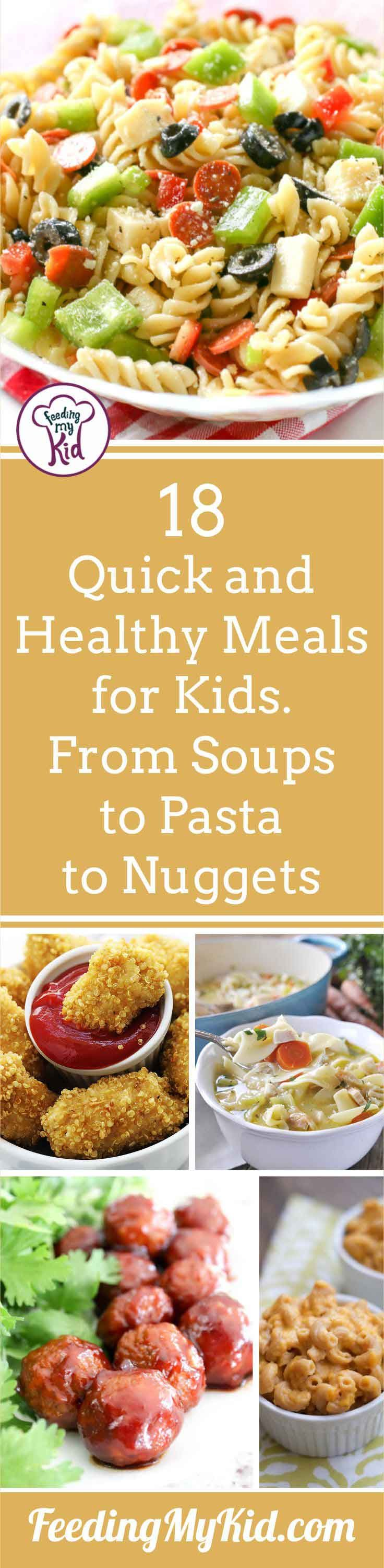 Knowing what you're gonna make for your kid's next meal is a lifesaver. Check out these healthy meals for kids you can make quickly and feel good about!