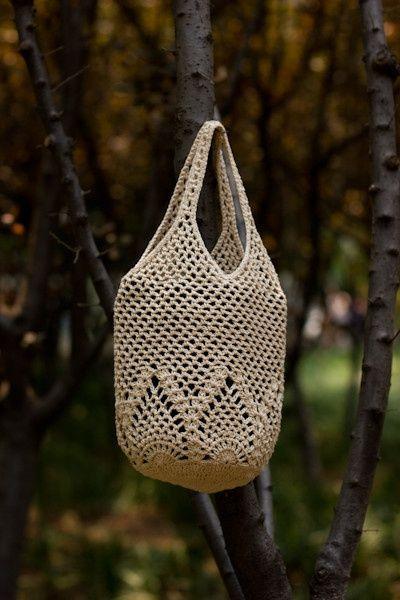Pretty crochet bag! Free diagram pattern