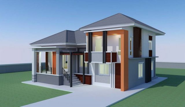 Modern And Unique 3 Bedroom House For A Growing Family Pinoy Eplans Minimalist House Design Modern Bungalow House Modern Style House Plans