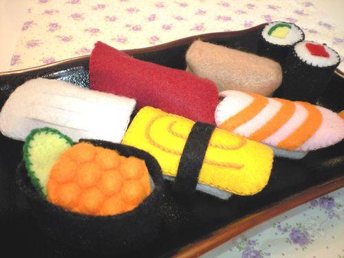 Make felt toys ★ sushi pretend ★ How to make | felt | knitting, handicraft, sewing | handmade category | handmade, atelier if how to make handmade work