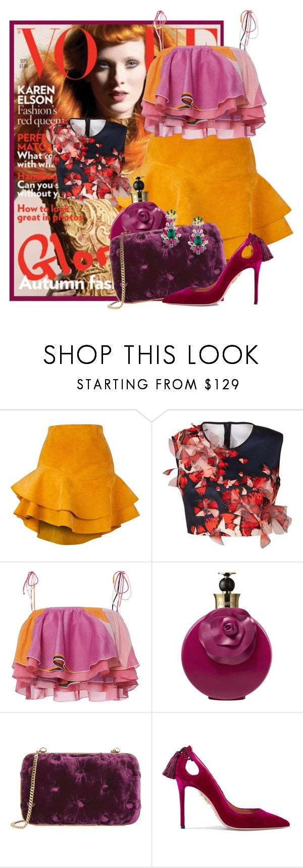 """""""Fall Delight"""" by sally92 ❤ liked on Polyvore featuring Siobhan Molloy, Clover Canyon, Emilio Pucci, Valentino, Benedetta Bruzziches, Aquazzura and Dolce&Gabbana"""