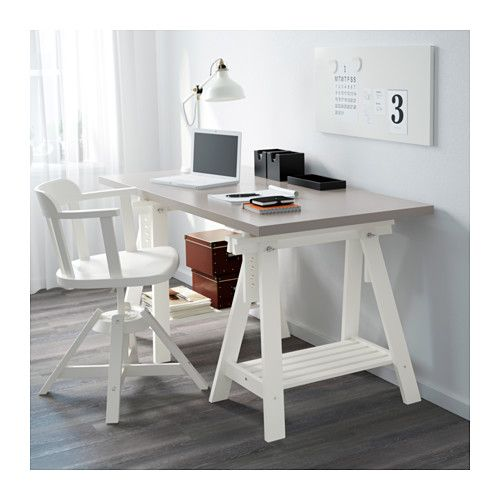 "LINNMON / FINNVARD Table - gray/white, 59x29 1/2 "" - IKEA"