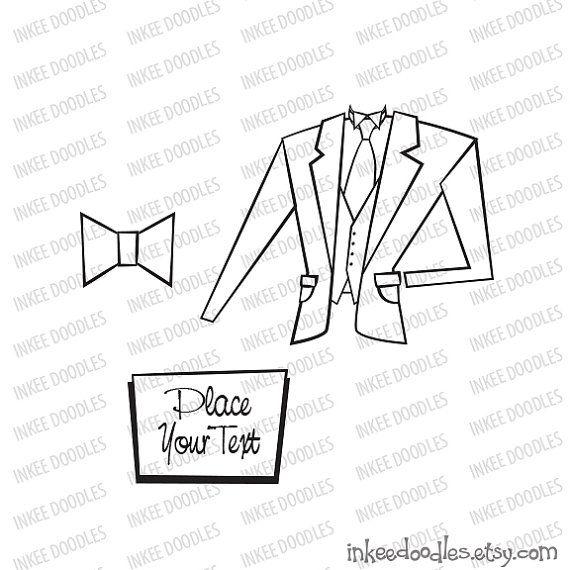 Groom Suit Jacket Tie Signboard Digital Stamps Black And White Clipart by InkeeDoodles, part of a 16 piece slipart set, $6.00, #Groom #Suit #Jacket #Tie #Signboard #Digital #Stamps #BlackandWhite #Clipart