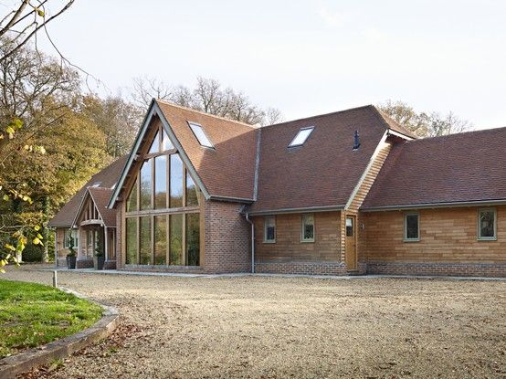 A Border Oak barn - featured in the April Edition of Build It Magazine.