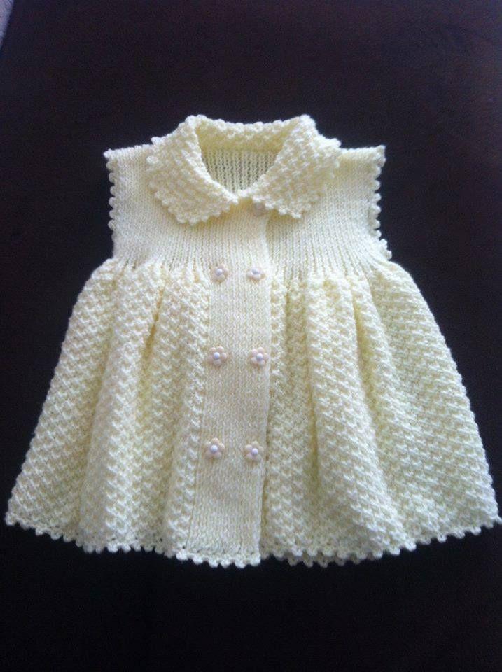 Kız çocuk olan bu örgü yelek kullanışlı durmuştur.  Oldukça kullanışlı olan bu örgü elbise değişik ve güzel durmuştur.  İşte örgü yelek.
