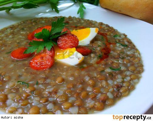 Čočkova polévka s pohankou (falešná zabíjačková) *