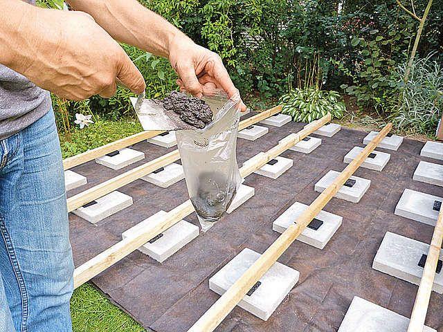 Hohenniveau Bei Terrassen Mit Betontutchen Ausgleichen Garten Gartenarbeit Garten Design