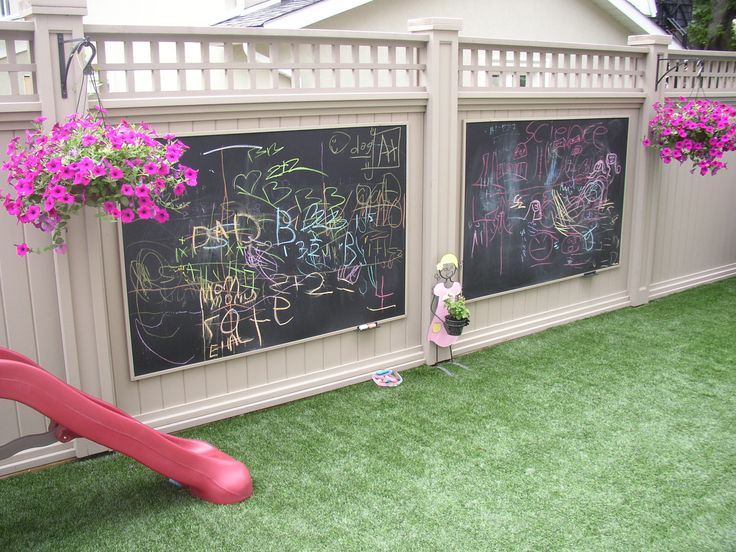 I'm probably going to have to do this on the new section of my fence by my kitchen window to watch future kids play school in the shade. :)