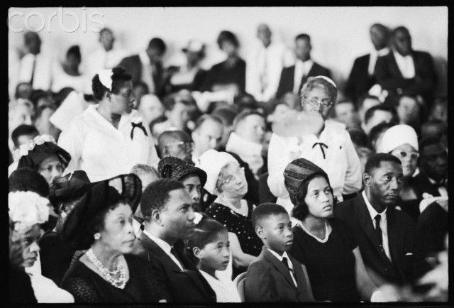 Medgar Evers Family | Mourners at Medgar Evers Funeral ...