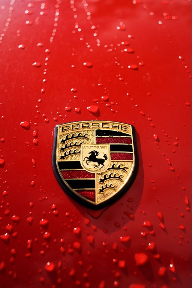 Porsche Logo  #iPhone wallpaper.