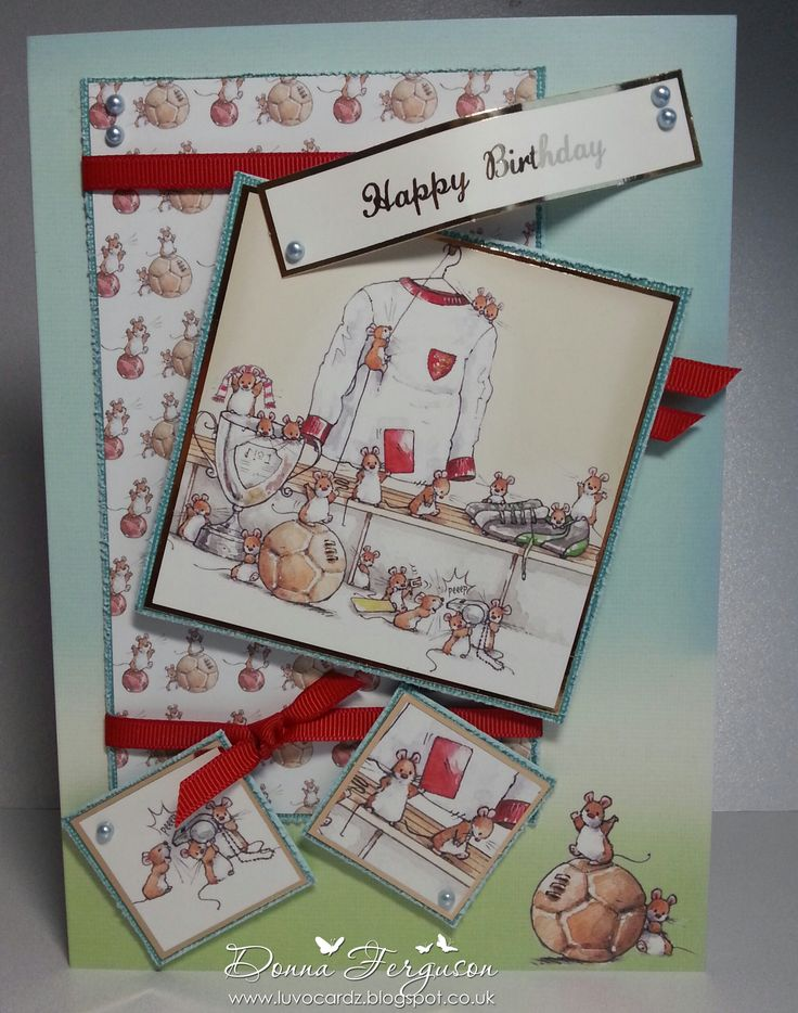 Donna Ferguson: Makey Bakey Mice from Crafter's Companion (papercrafting kit)