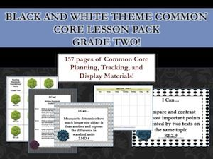 Common Core Lesson Planning Pack for Second Grade from Organized Classroom Blog Store