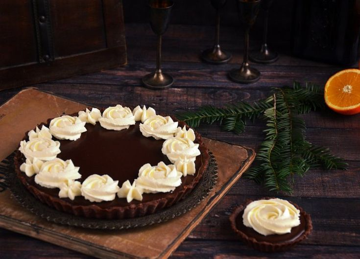 Karácsonyi narancsos csoki mousse pite  Orange-chocolate mousse pie for Christmas