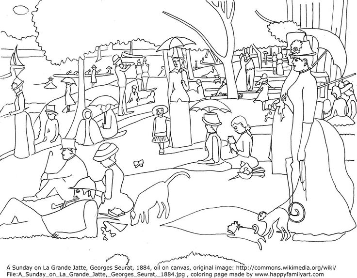 art history coloring book pages - photo#25
