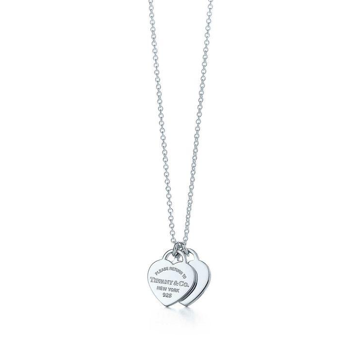 fa96d22a28ce74 Pendentif double Plaque Cœur mini Return to Tiffany™