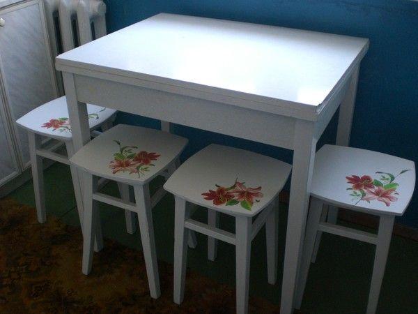 Декупаж мебели: стул, стол, камод. Мастер-класс