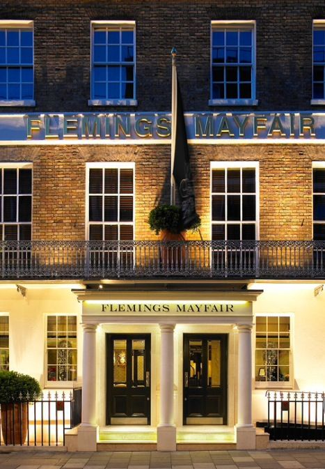 El Flemings Mayfair Hotel está en el 7-12 de Half Moon Street, en pleno barrio de Mayfair, Londres