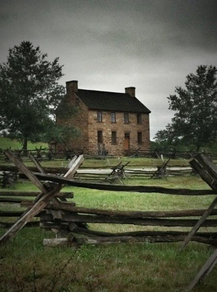 """Stone House"" in the Manassas National Battlefield in Northern Virginia"