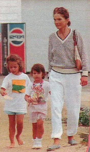 In Martha's Vineyard 1993 with her grandchildren, a year before she passed away due to cancer.