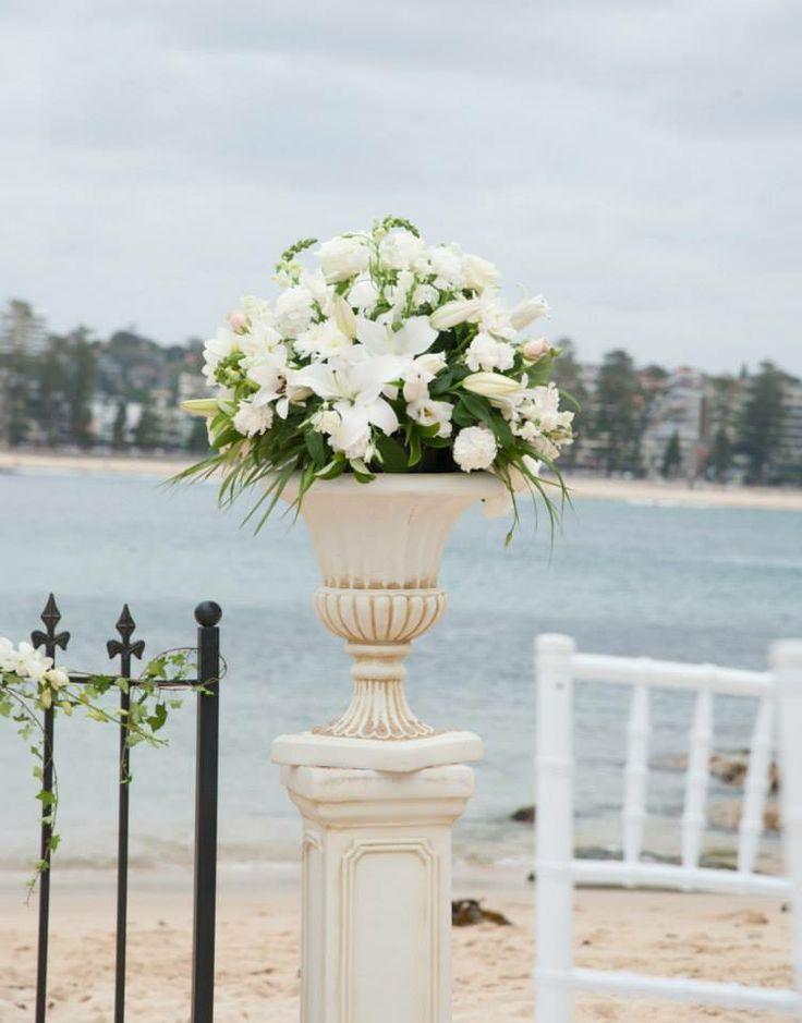 Sofias flowers on pedestal