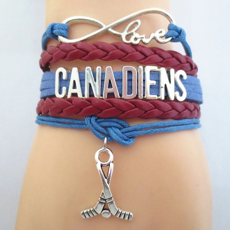 Infinity Love Montreal Canadiens Hockey - Show off your teams colors! Cutest Love Montreal Canadiens Bracelet on the Planet! Don't miss our Special Sales Event. Many teams available. www.DilyDalee.co