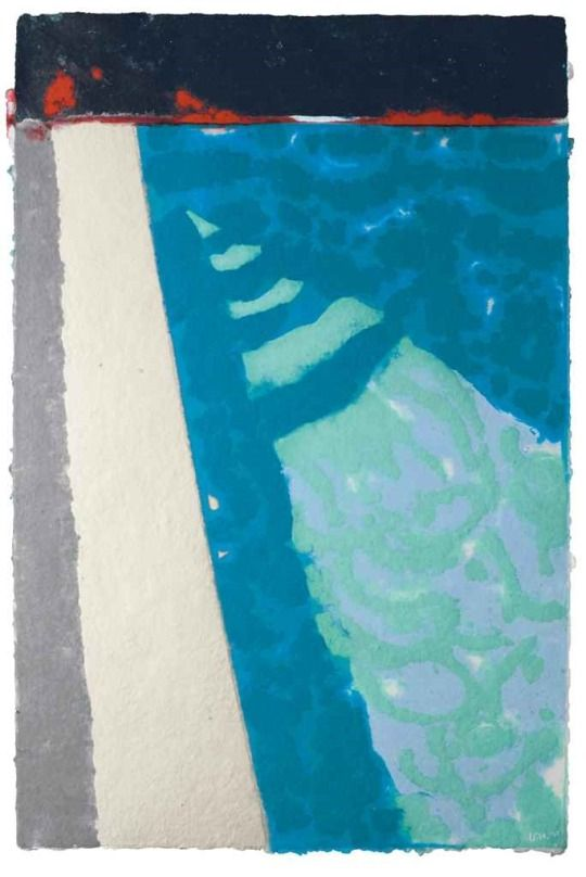 David Hockney (British, b. 1937), Steps with Shadow, 1978. Coloured and pressed paper pulp, 50½ x 33½ in.