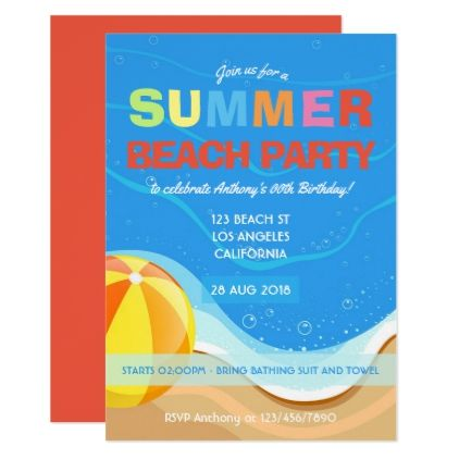 The 25+ best Summer party invites ideas on Pinterest Luau - pool party invitation