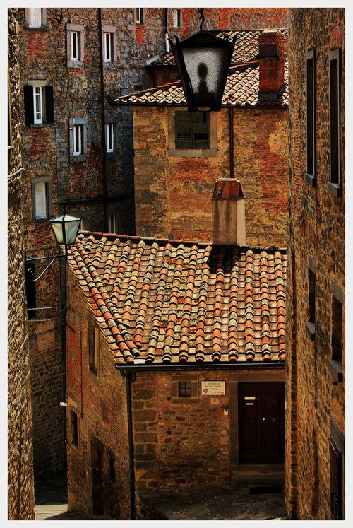 Terrific shot - love the coloring of these buildings and the roof tiles....