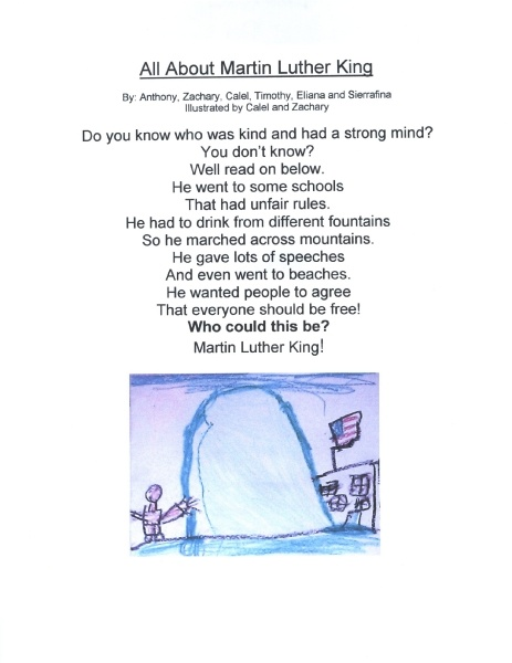 These kids attend a school named after Rosa Parks.  This poem is such a great example of what's RIGHT with education.  History, language arts, civil rights and illustration all wrapped into one.  Great work!
