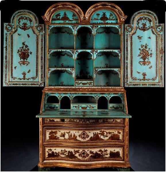 Meuble Peint Italien En Arte Povera Regard D Antiquaire Meubles Peints Mobilier De Salon Meuble De Style