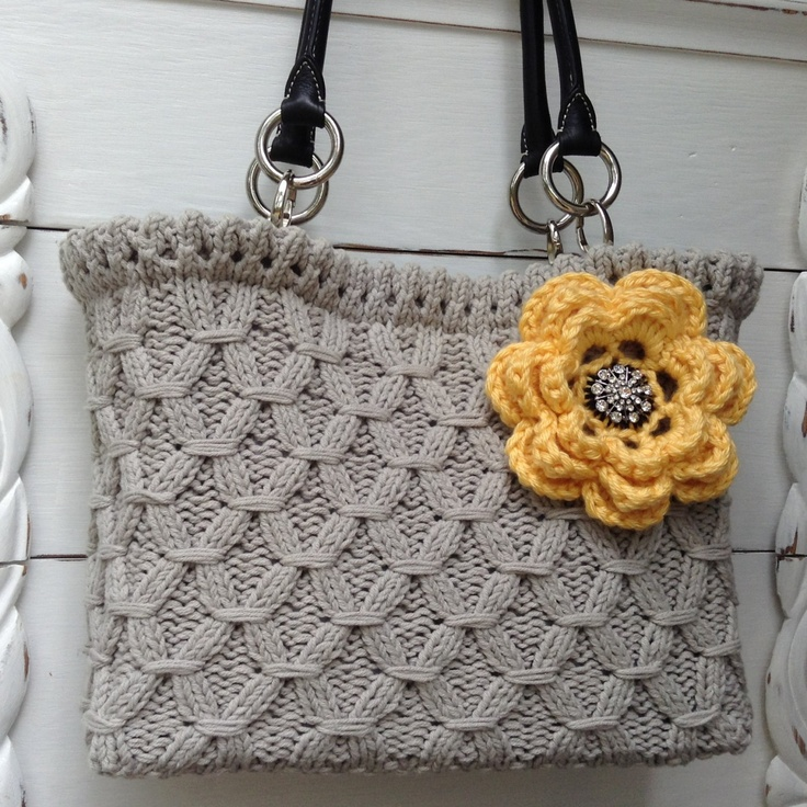 Yummy textured hand knit bag by BVBVknits on Etsy