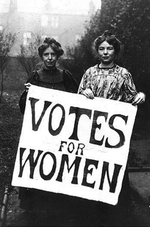 The so called suffragettes group formed. It's main goal was o achieve rights fro women to vote. There were protests on the streets, boycotts and even some more radical movements.