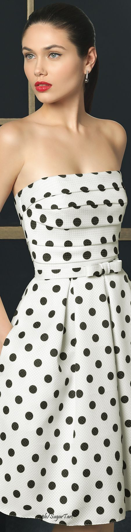 Polka dots dress - see the tiny bow on the waist?