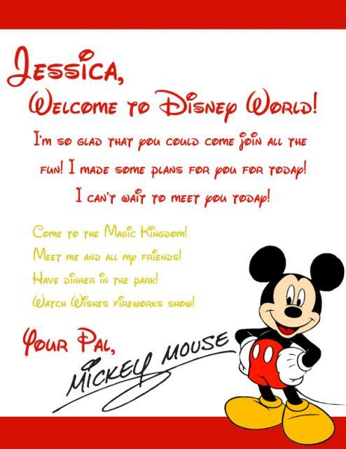 image result for mickey mouse letter to kids arriving to disney disney trip pinterest. Black Bedroom Furniture Sets. Home Design Ideas