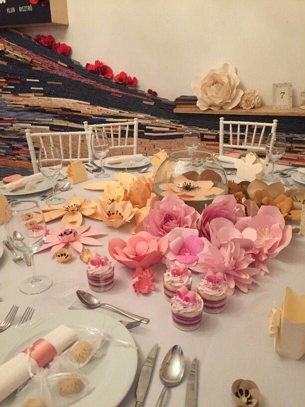Paper flower for a wedding by flowartdecor  #papírvirág #paperflower #flowartdecor