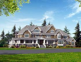 Craftsman Luxury House Plan 87640