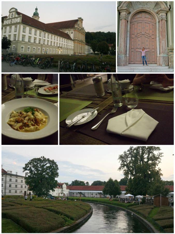 Fürstenfeldbruck Kloster, public space & organic/vege/glutenfree restaurant