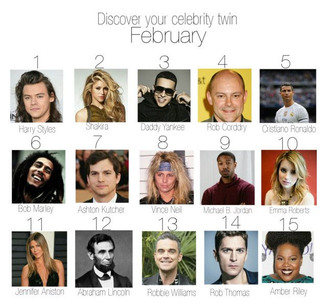 """""""Discover your celebrity twin - February I"""" by styleofzodiac ❤ liked on Polyvore"""
