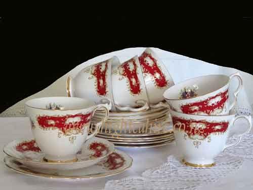 Queen Anne Bone china Patt No. 8364 tea set for hire