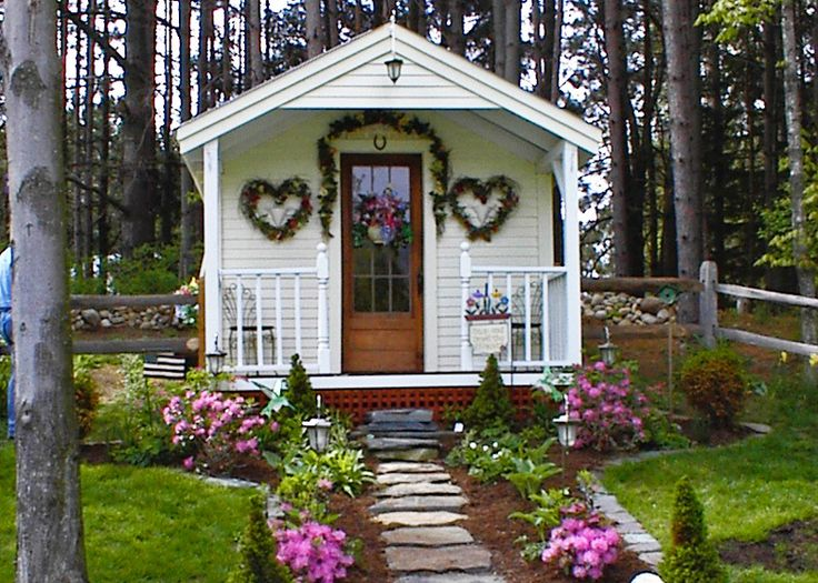 10 best images about home she sheds on pinterest house for Front porch kits for sale