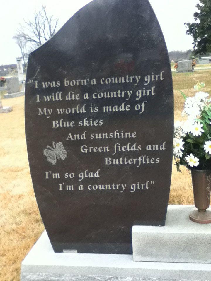 Dottie West Grave Back Of Headstone Mcminnville Tn