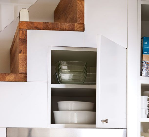 Wall cabinet with the door open