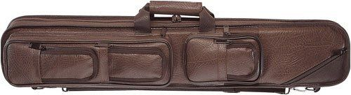 Lucasi Brown Leatherette Soft Pool Cue Case with Black Accents, 4B/8S (LC5) by Cue and Case. $68.99. This spacious Lucasi pool cue case surrounds your cues with a velvet lining to prevent scratching, and gives you more zipper pockets than you know what to do with. Modeled after the classic pool cue cases of yesteryear, when pool was a game played at saloons, and the early legends of the felt wrapped their favorite cues in the best material that was readily avail...